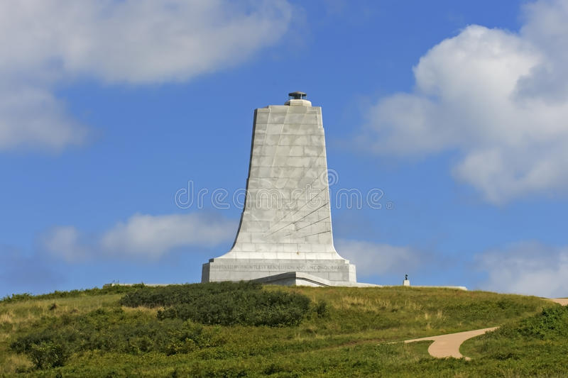 Wright Brothers Monument Side View arkivfoto