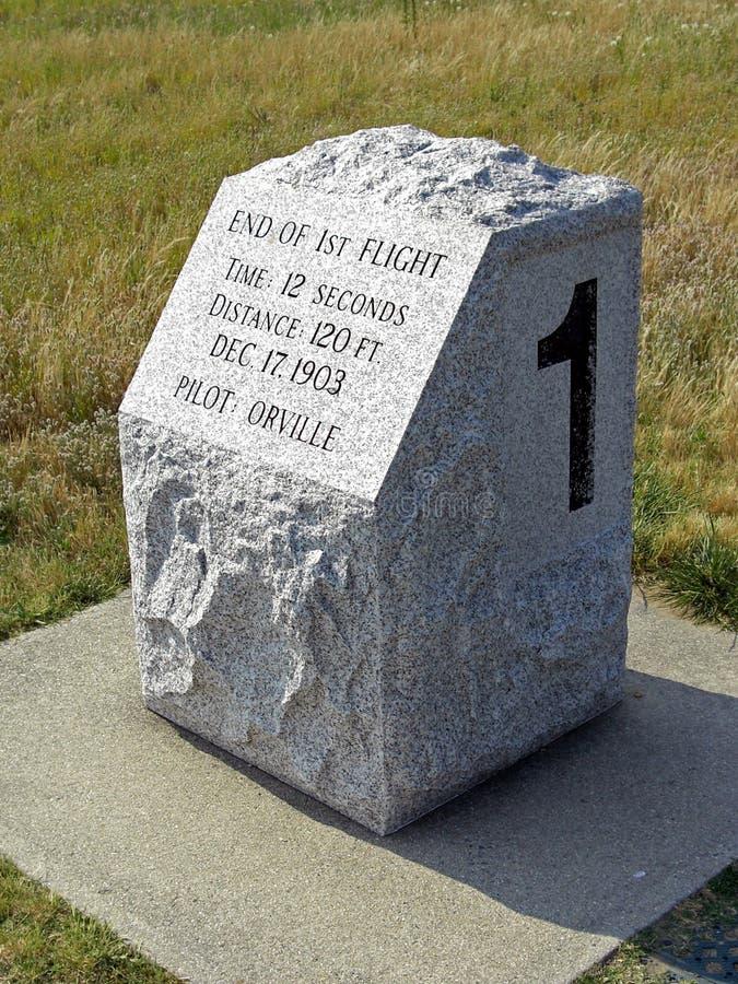 Wright Brothers National Memorial i bytejäkelkullar, 2008 royaltyfri bild