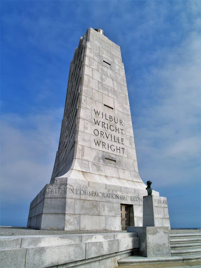 Wright Brothers National Memorial i North Carolina arkivbild