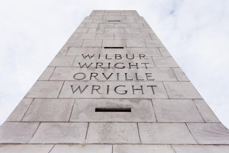 Wright Brothers National Memorial Outer packar ihop NC royaltyfria bilder