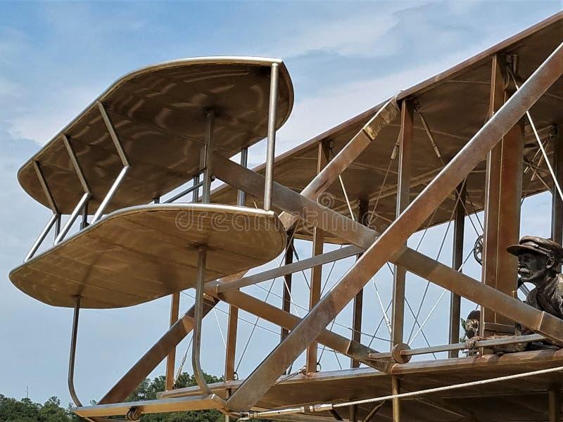 Wright Brothers Plane Replica royalty-vrije stock afbeelding