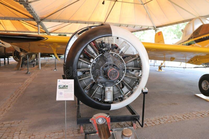 Wright Cyclone R1820 82WA motor fotografering för bildbyråer