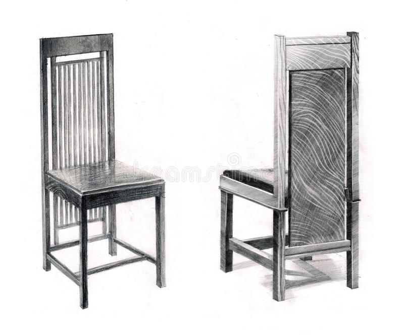 Wrights Chairs royalty free illustration