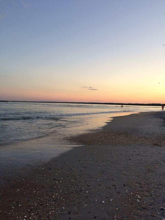 Wrightsville plaży zmierzch obrazy stock