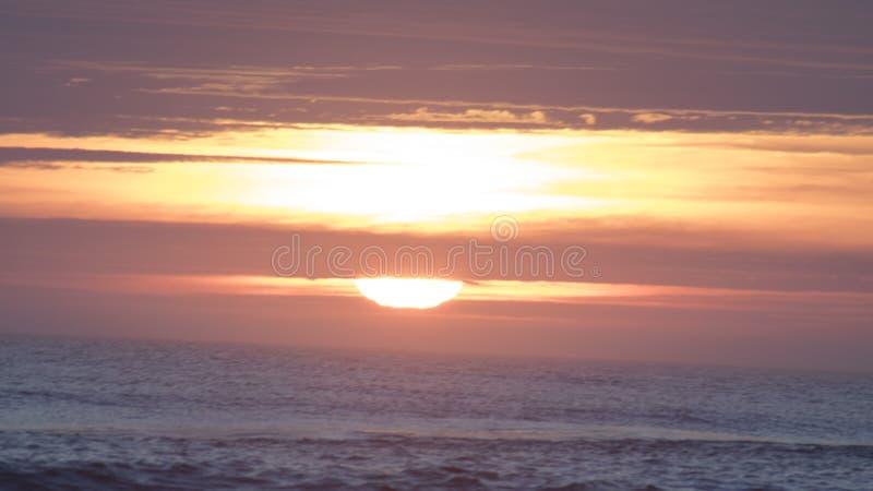 Wrightsville strandsoluppgång royaltyfri foto