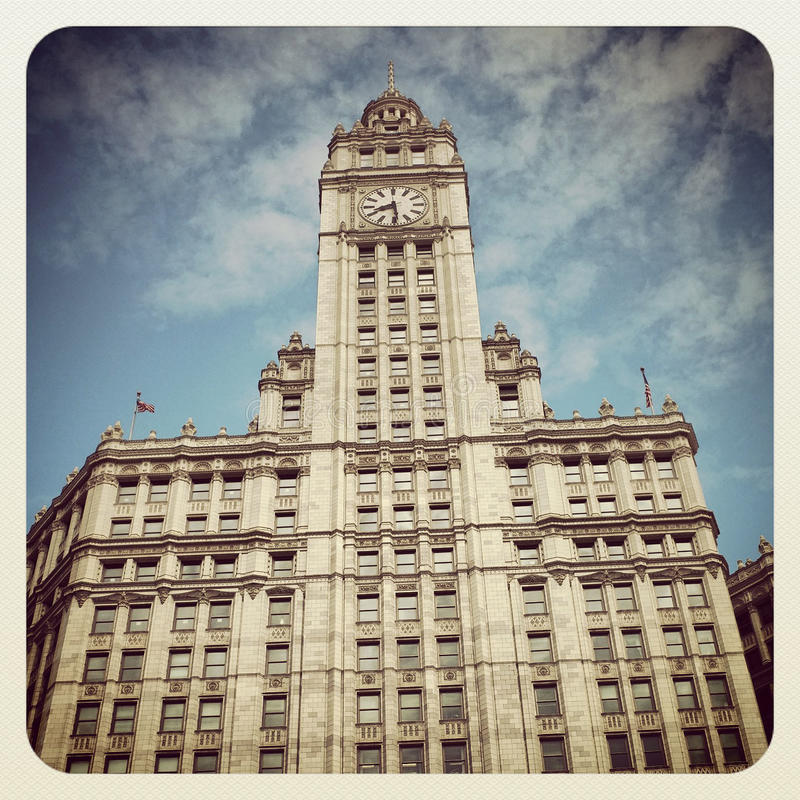 Wrigley Building. The Wrigley building in Chicago stock photo