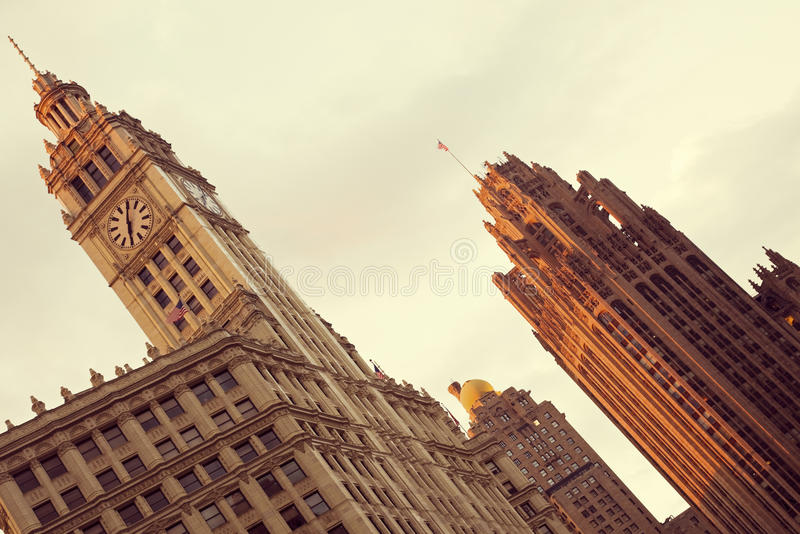 Wrigley Building And Tribune Building Royalty Free Stock Images