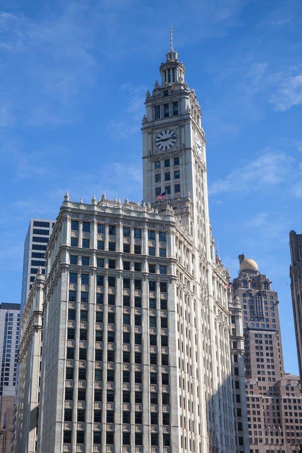 Wrigley byggnad i Chicago royaltyfri foto