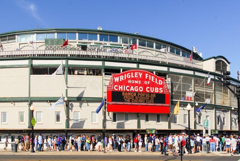 Wrigley coloca, Chicago imagen de archivo libre de regalías