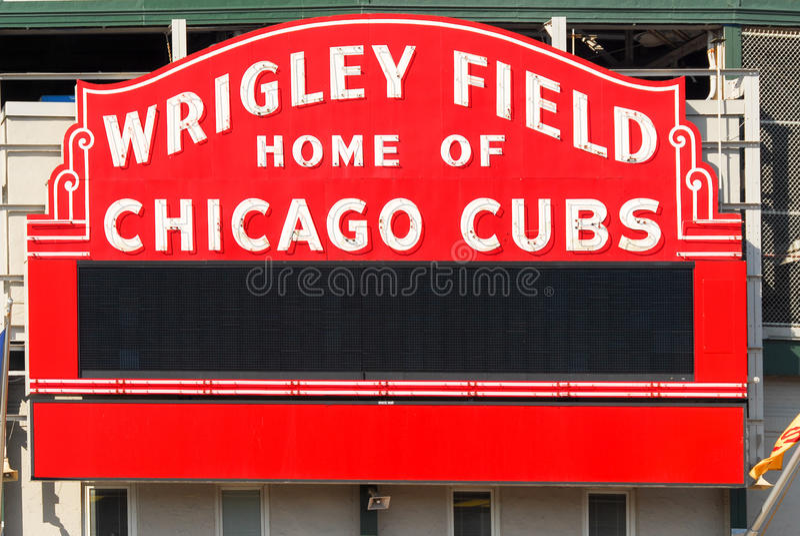 Wrigley coloca, Chicago imagenes de archivo