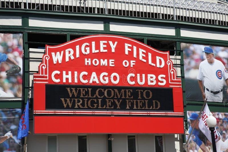 Wrigley coloca - Chicago Cubs fotografía de archivo