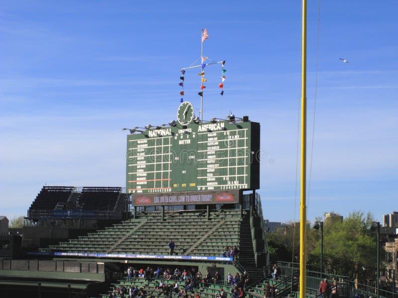 Wrigley coloca - Chicago Cubs imagen de archivo