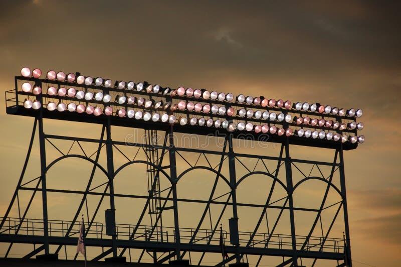 Wrigley coloca luzes fotografia de stock royalty free