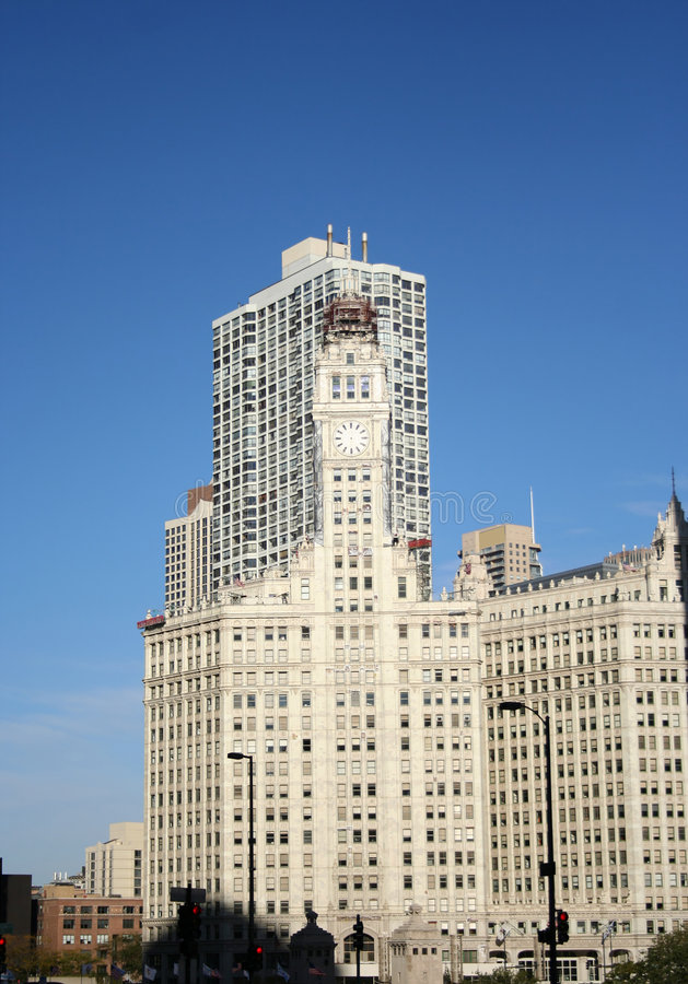 Wrigley die Chicago bouwt royalty-vrije stock foto