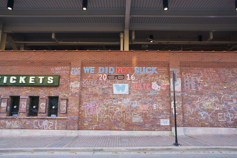 Wrigley fangen Weltmeisterschafts-Wand von Tributen auf stockfotos