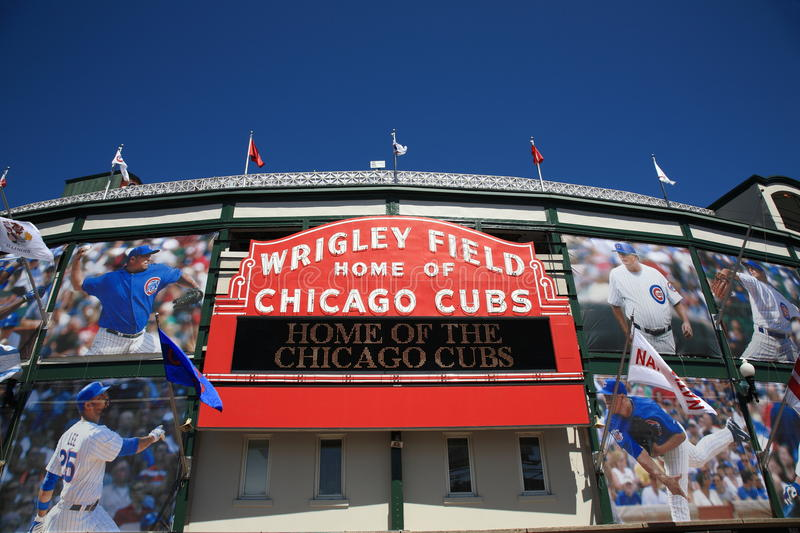Wrigley Field - Chicago Cubs royalty free stock photography