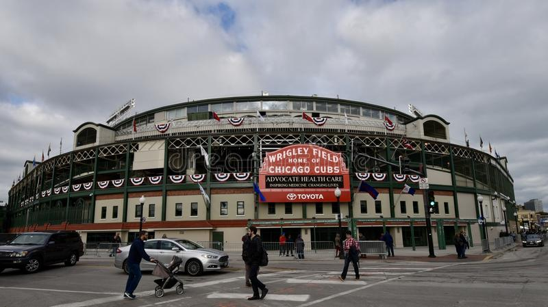 Wrigley Field Dressed for the World Series stock photography