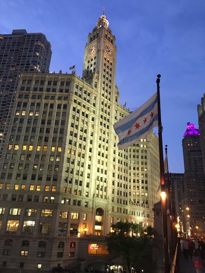 Wrigley-Geb?ude, Chicago stockfotografie