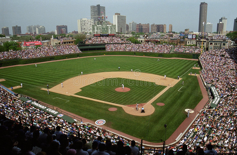 Wrigley mettent en place, Chicago photographie stock
