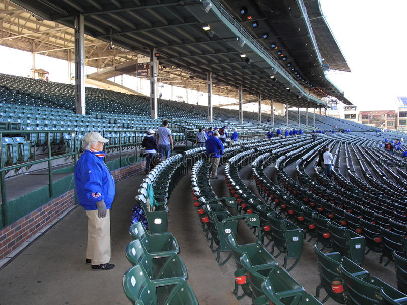 Wrigley mettent en place - Chicago Cubs images stock