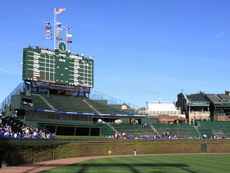 Wrigley mettent en place - Chicago Cubs photos stock