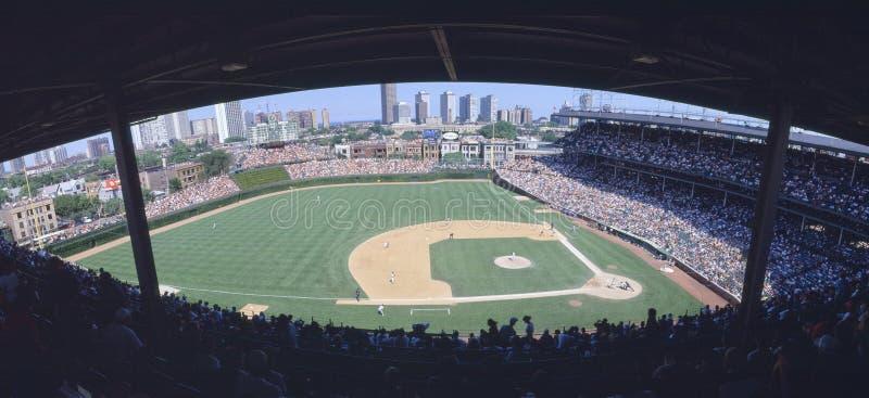 Wrigley Odpowiada, Chicago, Cubs v Skaliste góry, Illinois zdjęcia royalty free