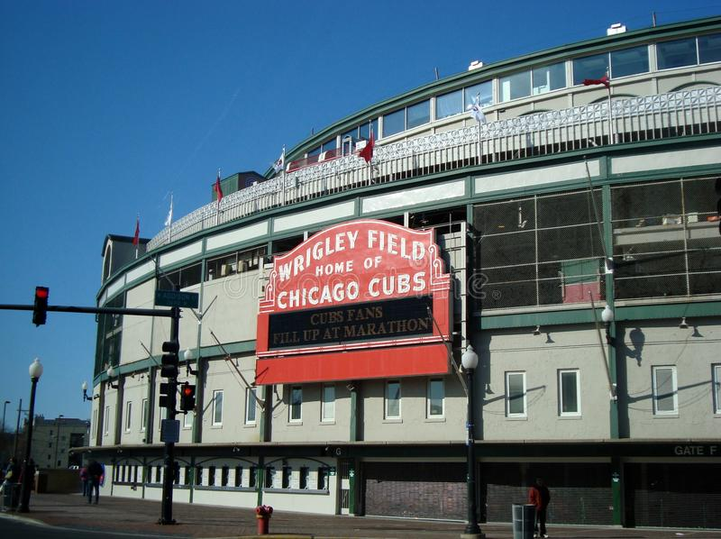 Wrigley sätter in Chicago arkivfoton