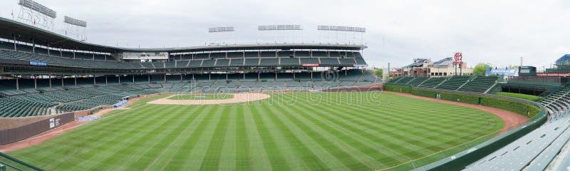 Wrigley sistema a casa dei Chicago Cubs immagine stock