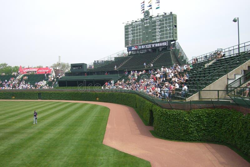 Wrigley sistema, Chicago - Bleachers ed edera immagine stock libera da diritti