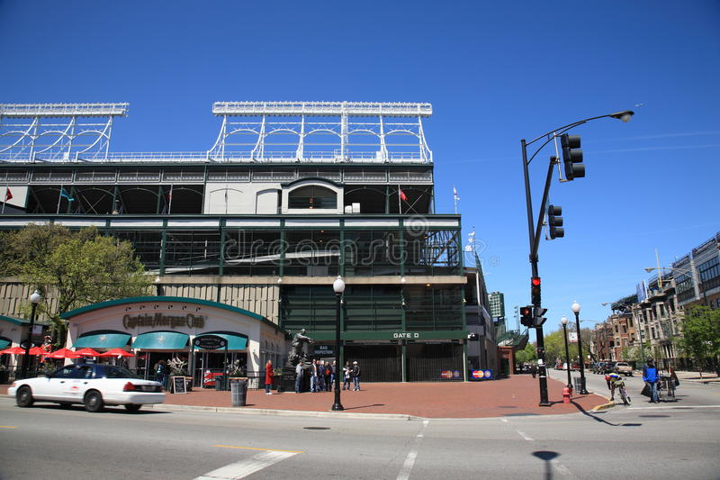 Wrigley sistema - Chicago Cubs fotografie stock libere da diritti
