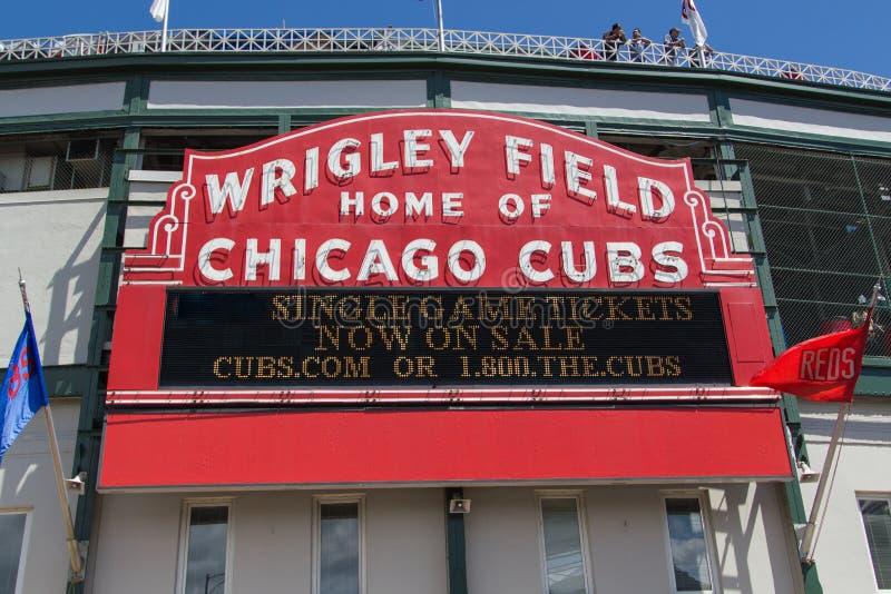 Wrigley sistema, Chicago, l'Illinois immagini stock libere da diritti