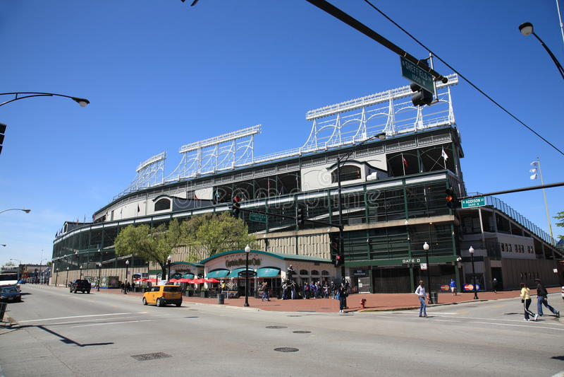 Wrigley stellen - Chicago Cubs auf lizenzfreie stockbilder