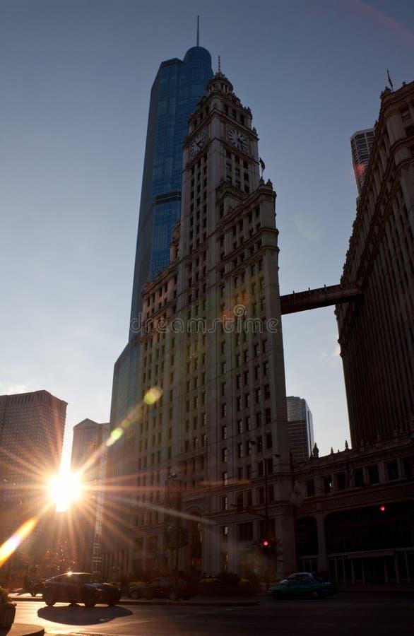 Wrigley toren royalty-vrije stock afbeelding
