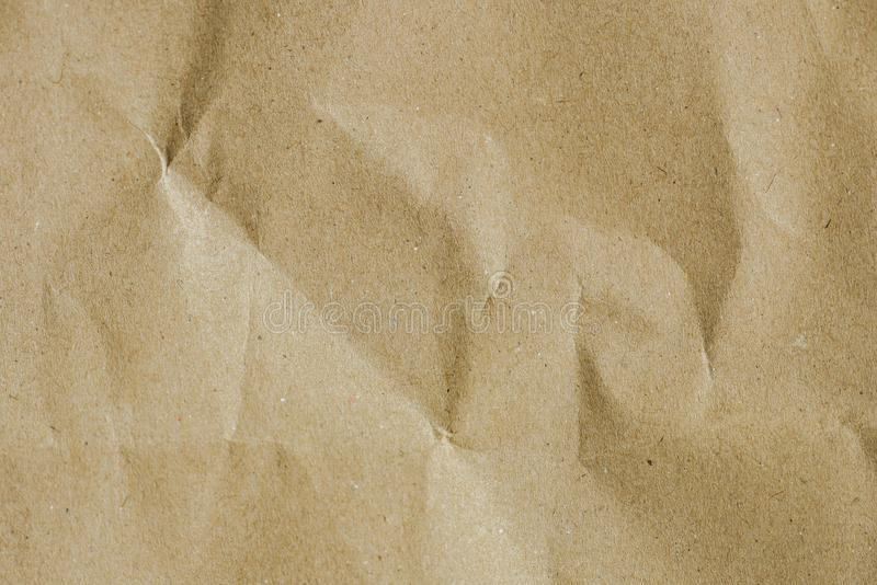 Wrinkle brown bag texture paper bag stock images