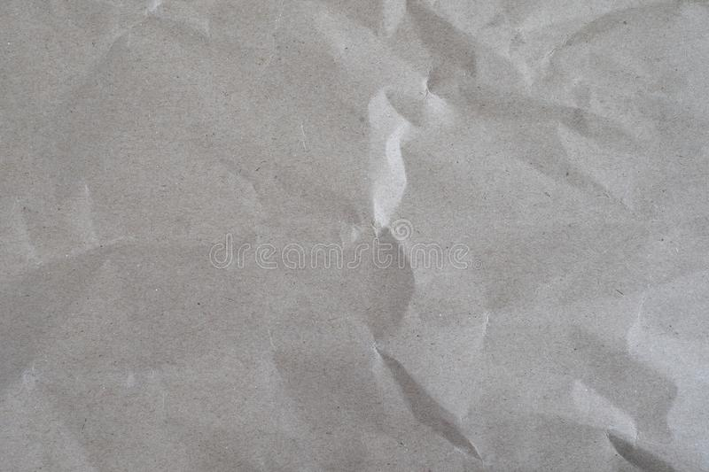 Wrinkle brown paper texture background stock photos