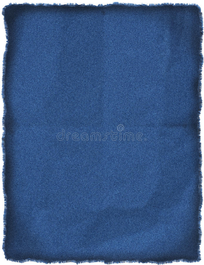 Wrinkled blue jeans patch. Wrinkled, old blue jeans patch on letter size paper vector illustration