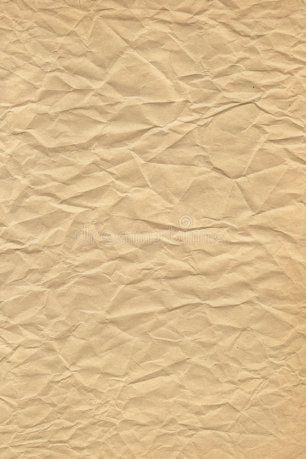 Wrinkled Brown Paper stock image