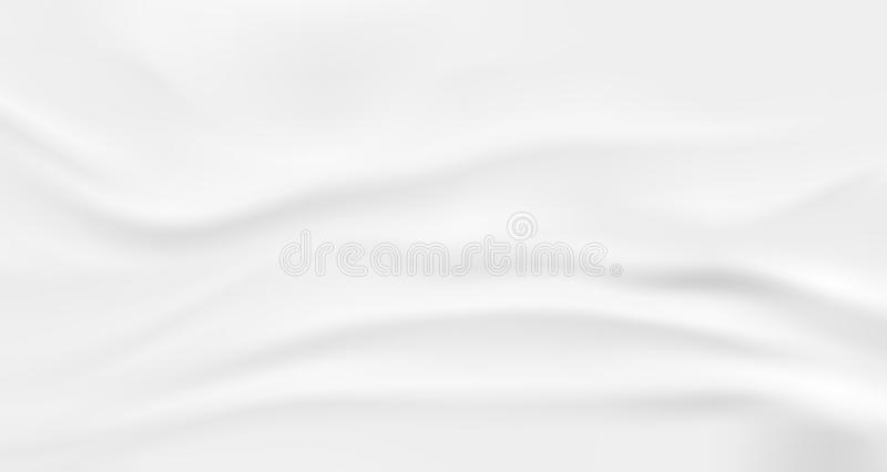 Wrinkled fabric background. White vector wavy cloth. Wrinkled fabric background. White vector wavy cloth stock illustration