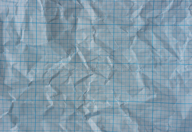 Wrinkled graph paper stock images