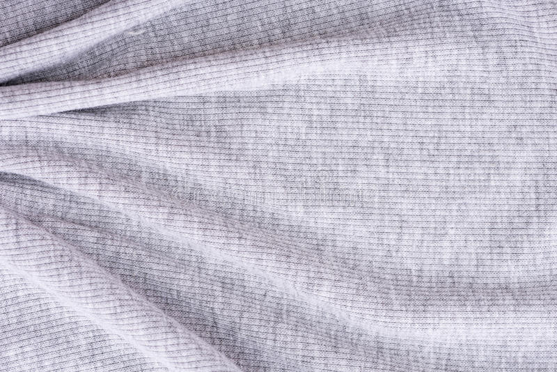 Wrinkled grey fabric. Close up of wrinkled grey cotton fabric texture background royalty free stock image