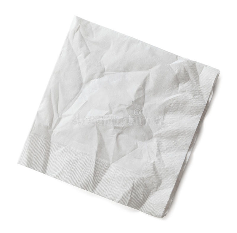 Free Wrinkled Napkin Royalty Free Stock Photography - 63174567