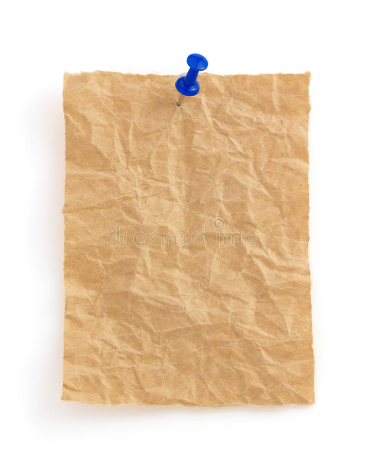 Download Wrinkled Note Paper On White Stock Photo - Image of back, frame: 39503738