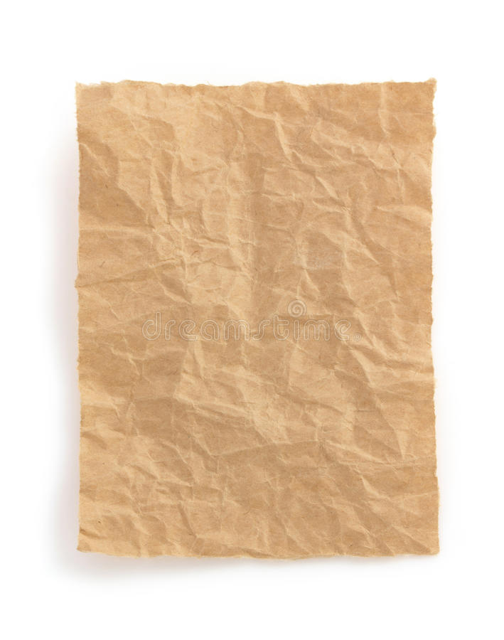 Download Wrinkled Note Paper On White Stock Image - Image of wrapped, isolated: 39503739