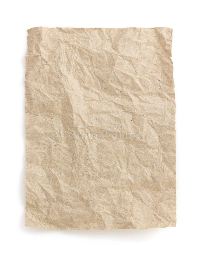 Download Wrinkled Note Paper On White Stock Photo - Image of office, bulletin: 39503740