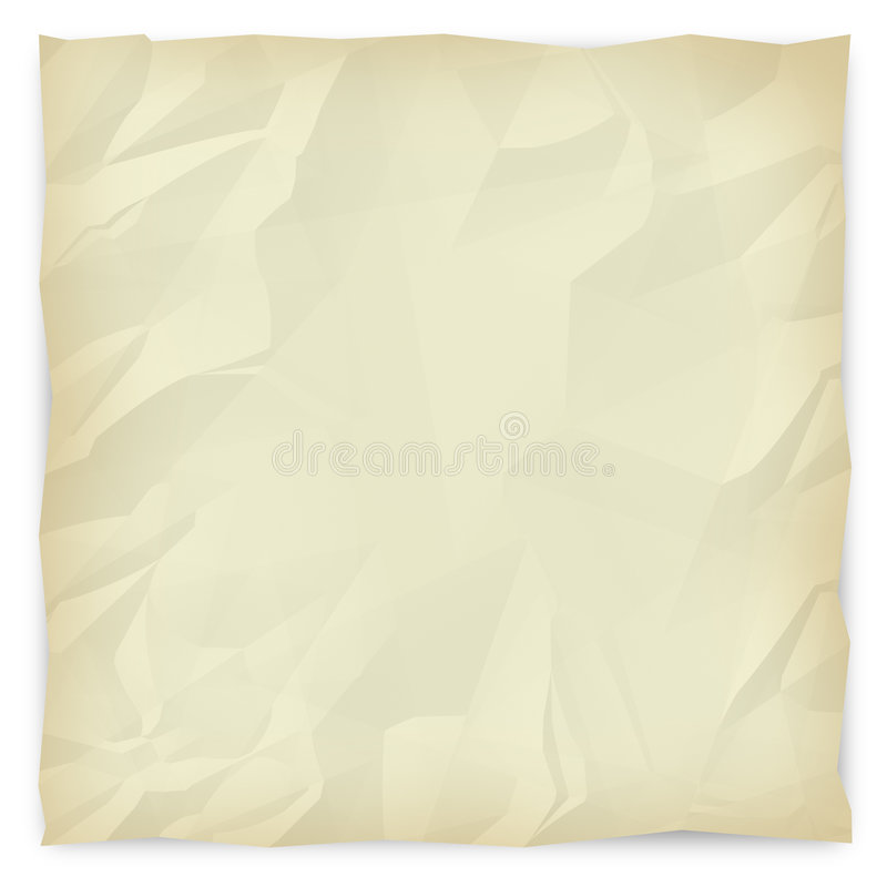 Wrinkled Paper Background 2 - Sepia. A sepia-toned, wrinkled piece of paper background for slides, brochures and presentations vector illustration