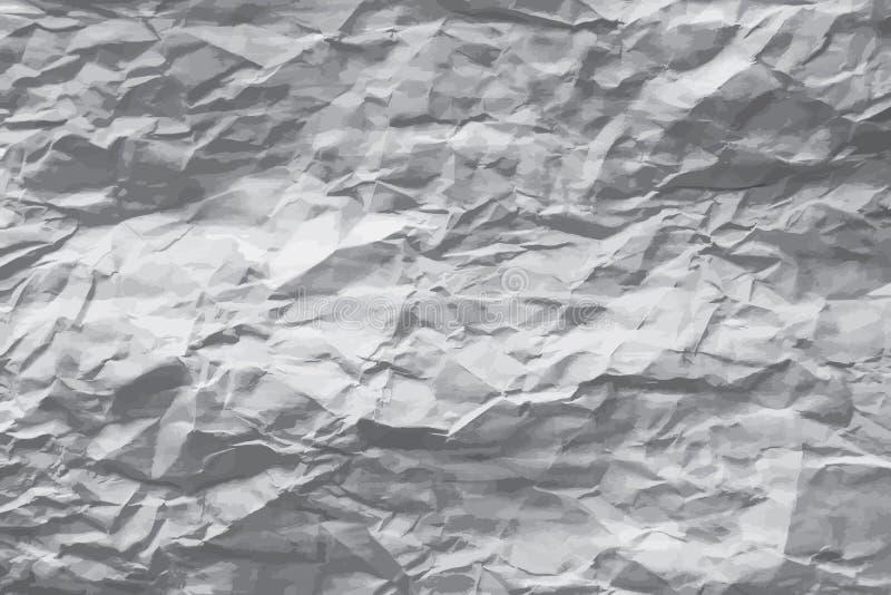Wrinkled paper. Greyscale wrinkled paper vector background vector illustration
