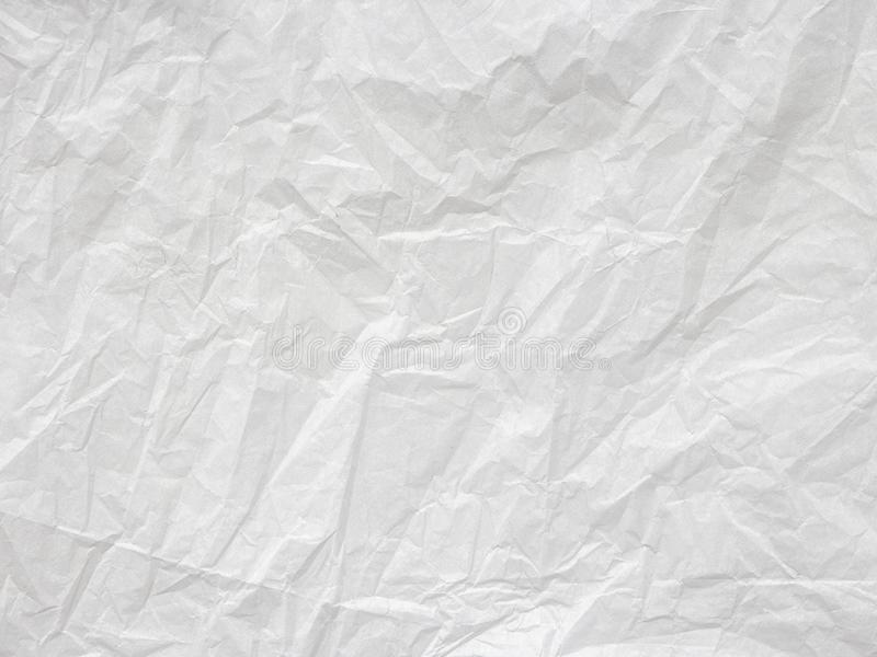 Wrinkled white paper texture background. Element for copy space. Crumpled Paper Texture. Paper crumpled seamless texture vector office background. Wrinkled stock image