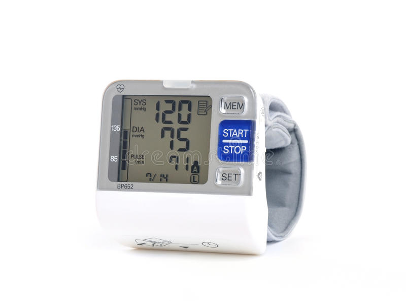 Download Wrist Blood Pressure Monitor Stock Photo - Image: 25793352
