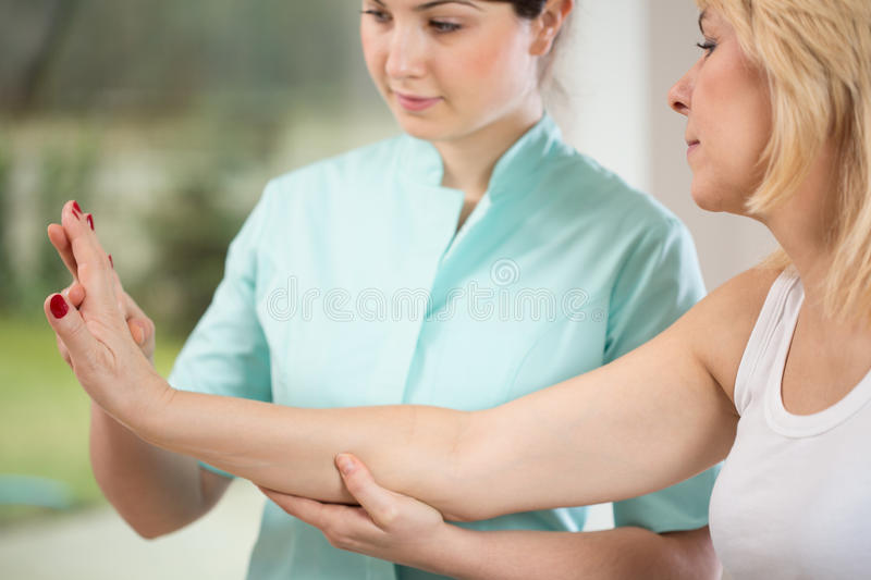 Wrist exercise royalty free stock photos