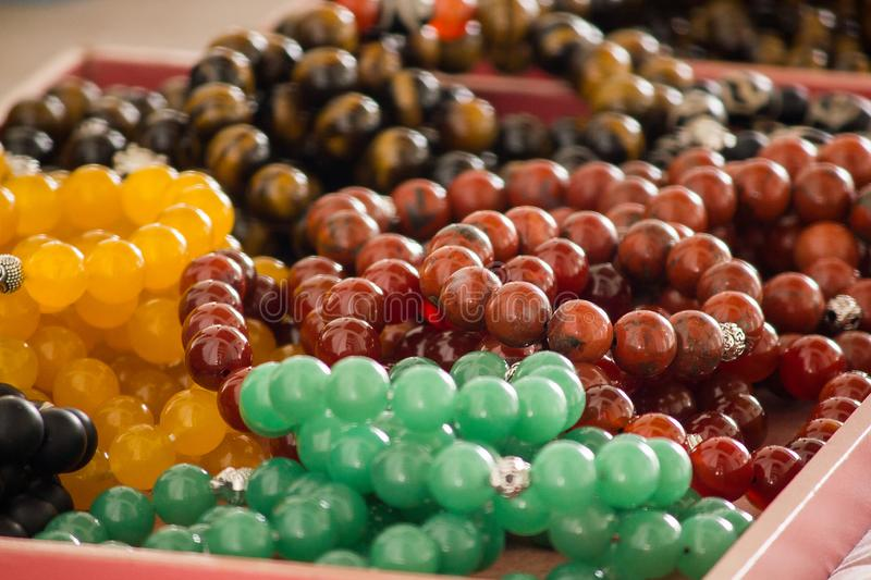 The wrist profit is made of stone in many colors. Is an easy to find jewelry stock photography